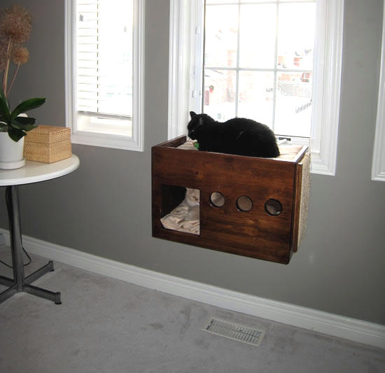 Diy Box Cat Perch Petdiys Com