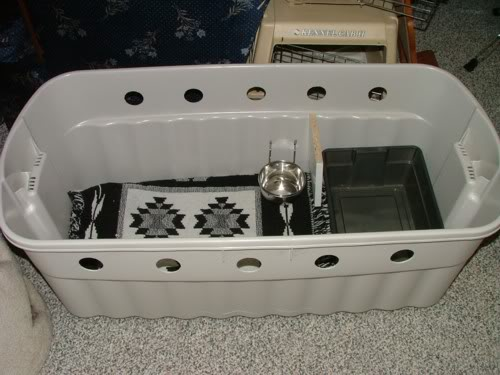 Cat Travel Carrier With Litter Tray