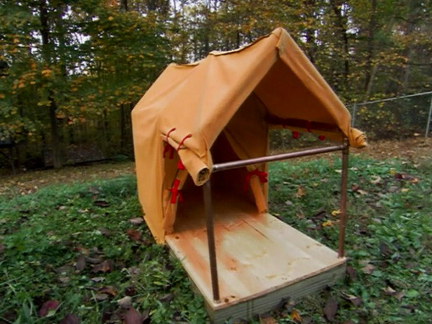 diy doghouse tent