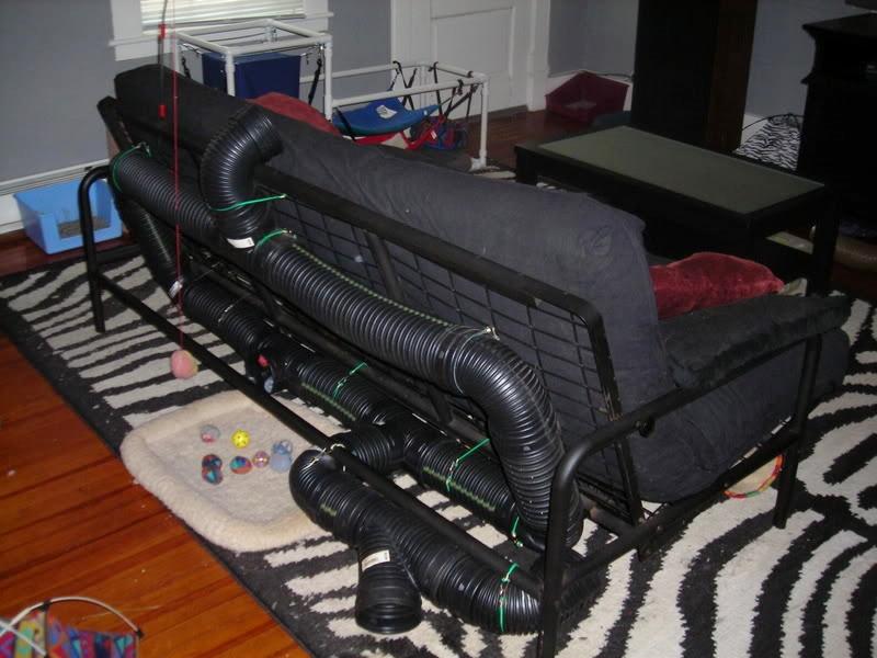 diy ferret futon tunnel   petdiys    rh   petdiys