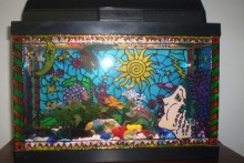 DIY-Painted-Aquarium-Decor