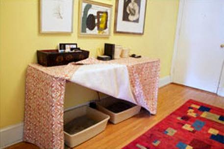 Diy Hidden Litter Box Diy Table Litter Box