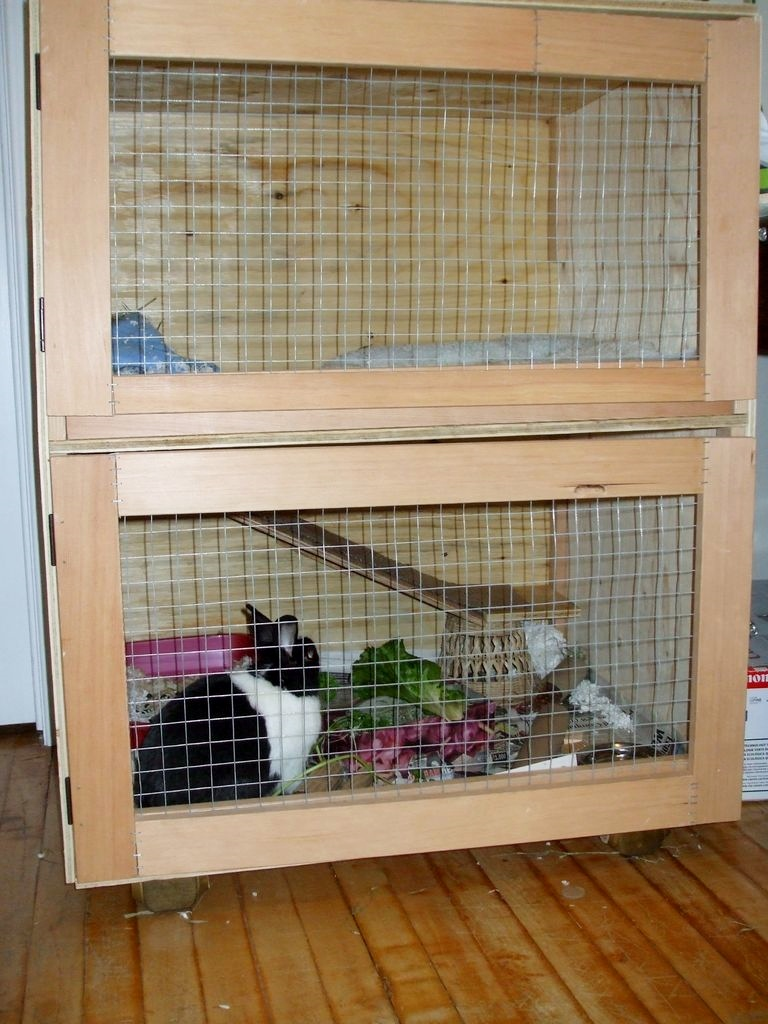 diy two story rabbit hutch