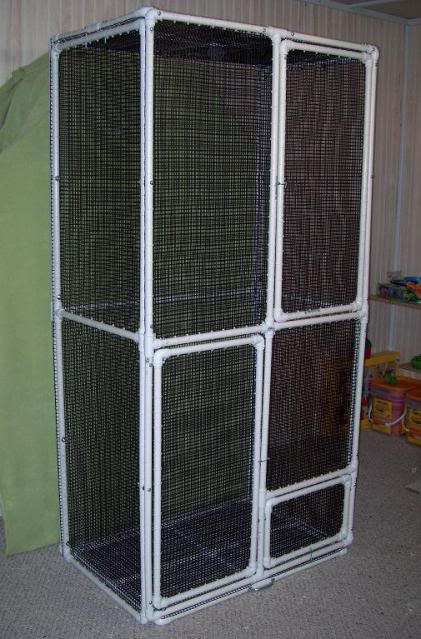 how to build a reptile cage with sliding doors