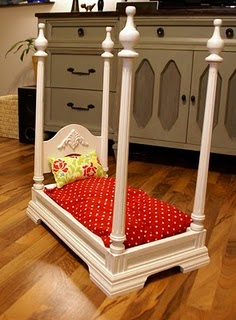 Table four poster dog bed for Four poster dog bed for sale