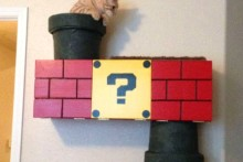 DIY-Super-Mario-Cat-Shelf