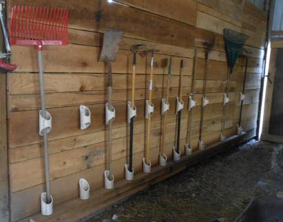 Pvc Barn Tool Holders Petdiys Com