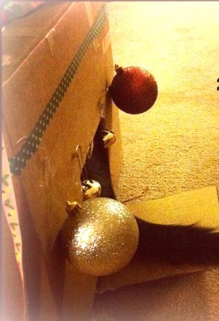 diy cat christmas box house