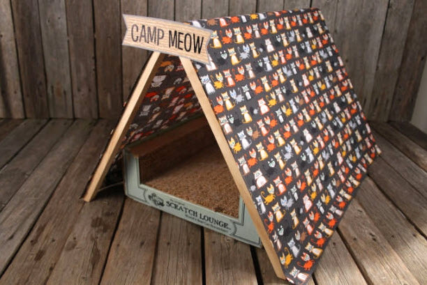 & DIY Cat Play Tent - petdiys.com