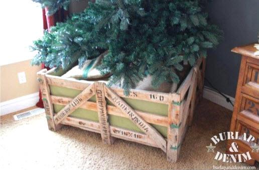 Diy wood christmas tree barricade stand petdiys.com