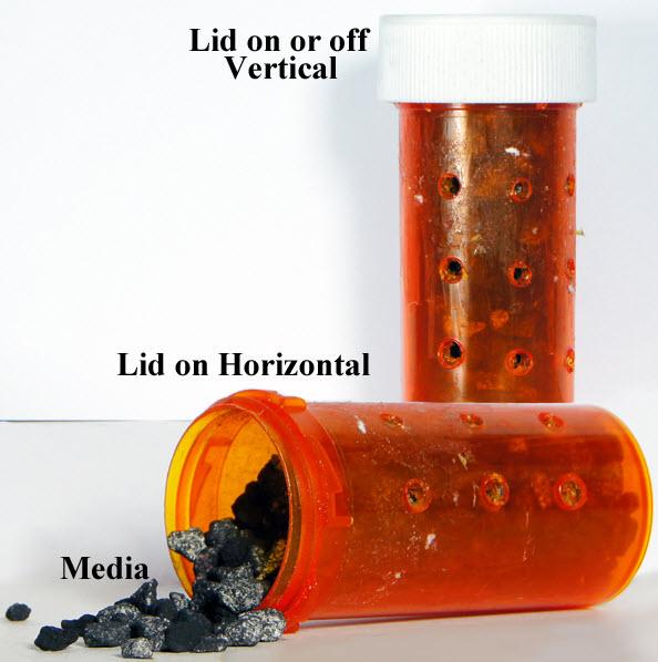 Diy pill bottle filter media holder for Diy filter media