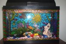 DIY-Painted-Aquarium-Decor