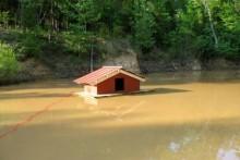 Styrofoam-Floating-Duck-House