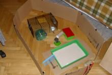 Cardboard-Hamster-Playpen