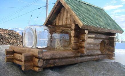 Diy Log Cabin Squirrel Feeder